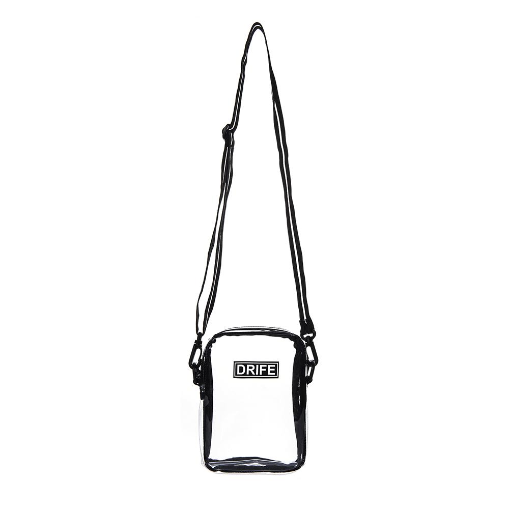PVC MINI CROSS BAG - WHITE(CLEAR)