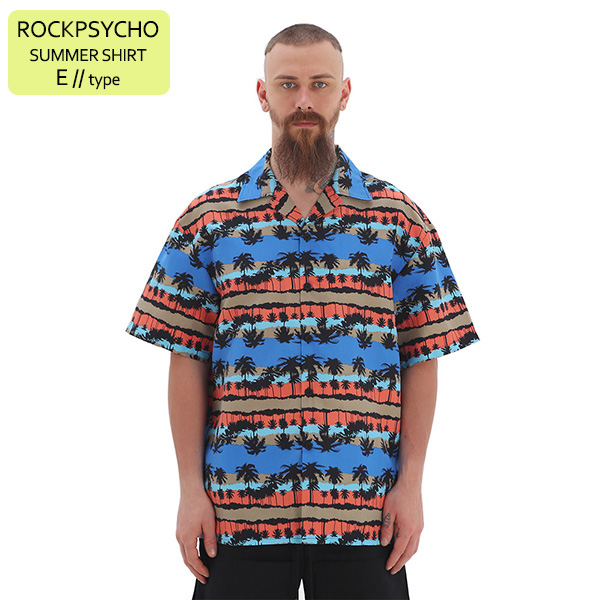ROCKPSYCHO(V) Summer Shirt - E / 락사이코(V) 썸머셔츠- E