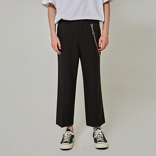 MINIMAL WIDE CROP SLACKS_BLACK