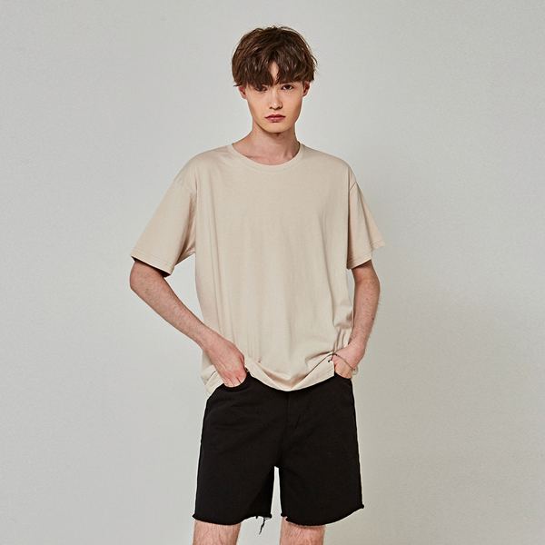TOUCH OVER HALF T-SHIRTS_LIGHT BEIGE