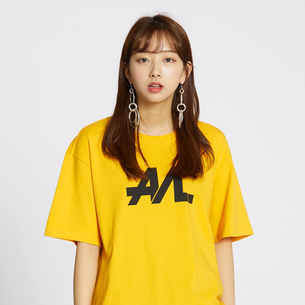Simple Logo Tee - Signal Yellow