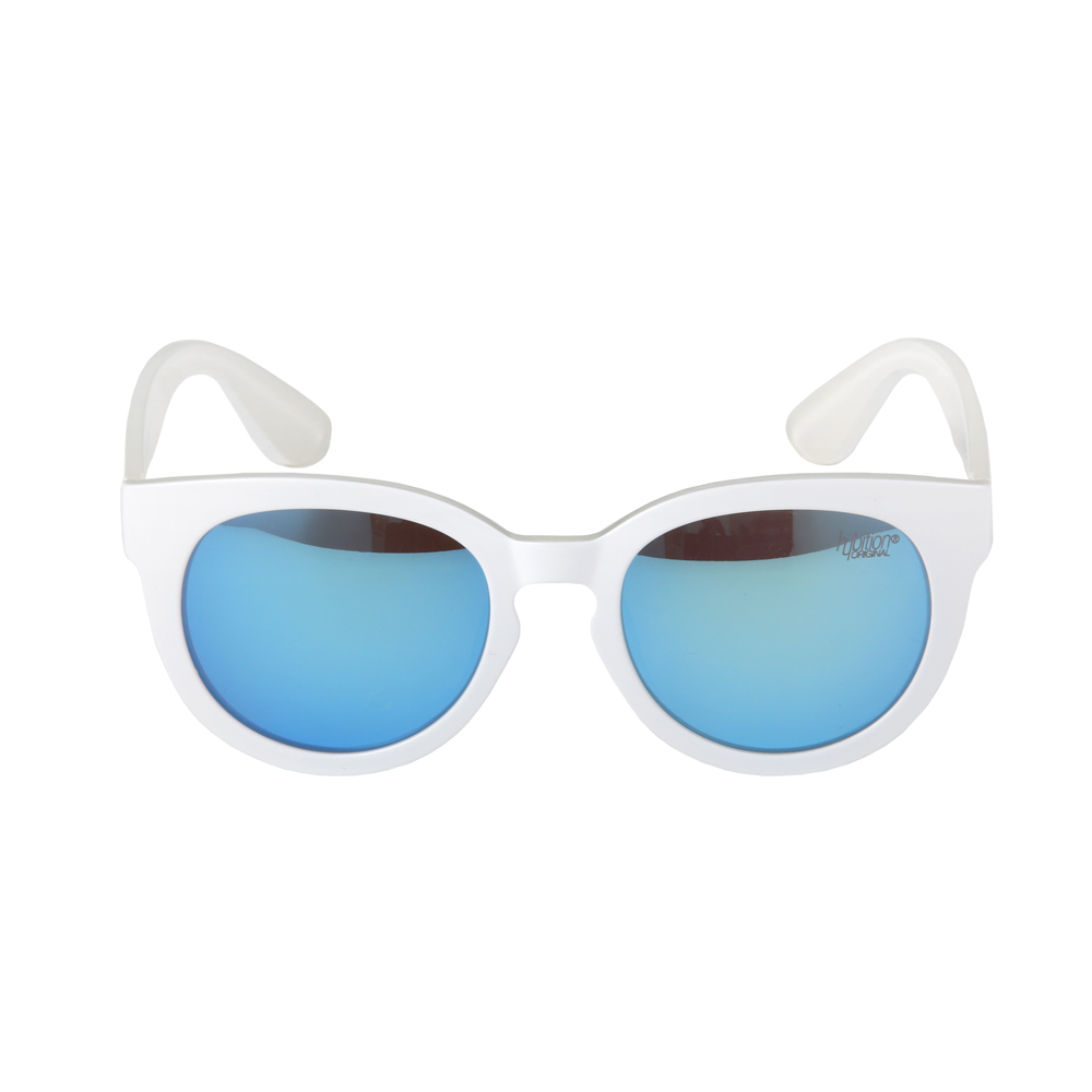 Fretzel TR Glossy White / Blue Mirror Lens