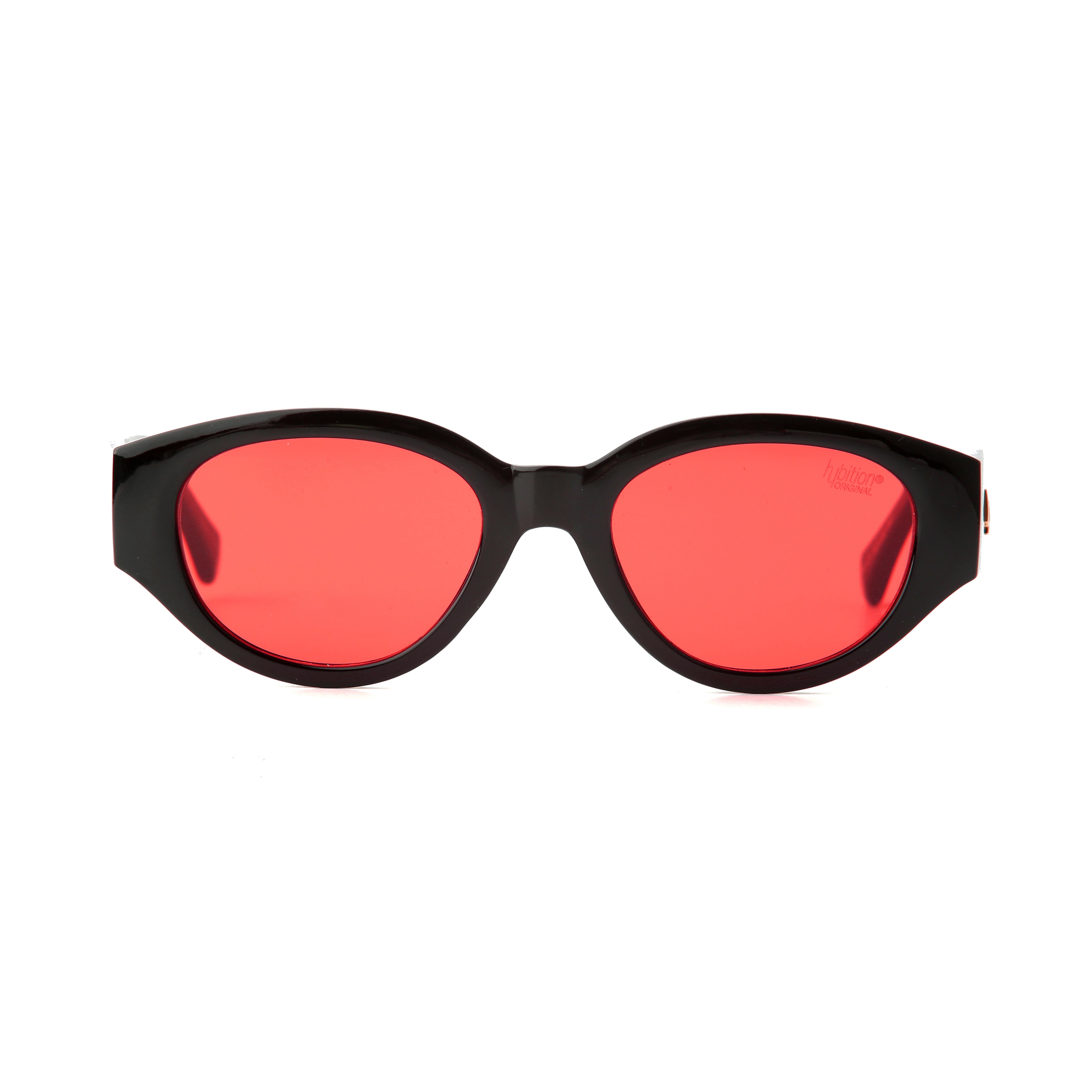 [비아이 착용][단독할인]D.fox Original Glossy Black / Red Tint Lens