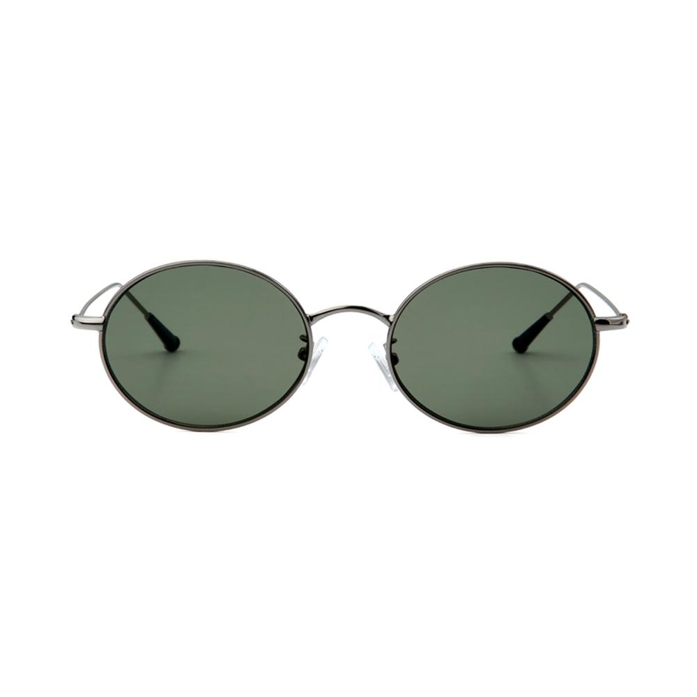 [단독할인]Dominik Silver / Dark Green Lens