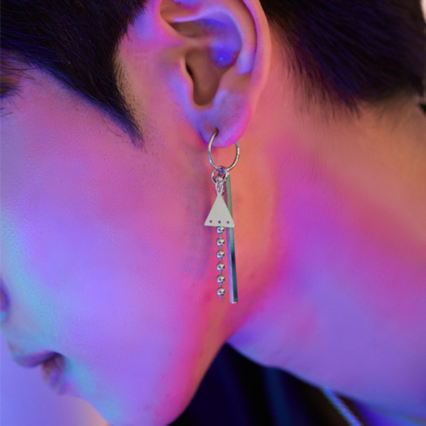 Trio ring earring