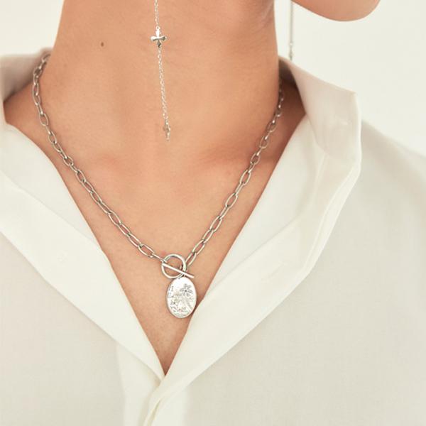 Flower tokeul necklace