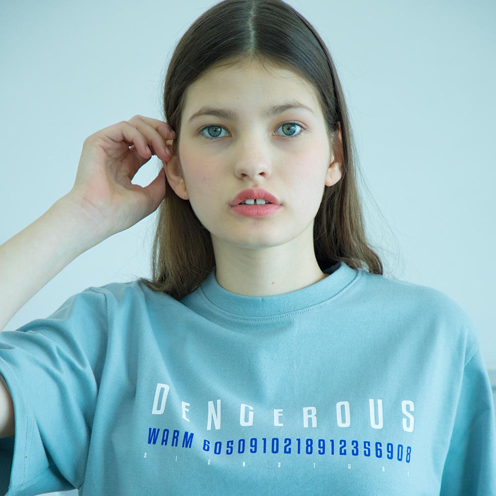 유니섹스 댄저러스 티셔츠 [블루그레이]