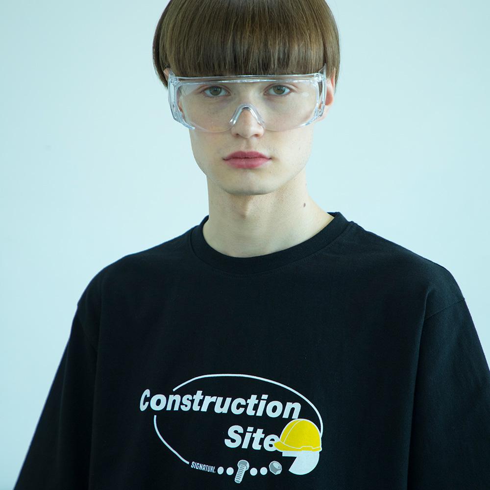 유니섹스 써클로고 티셔츠 [검정]