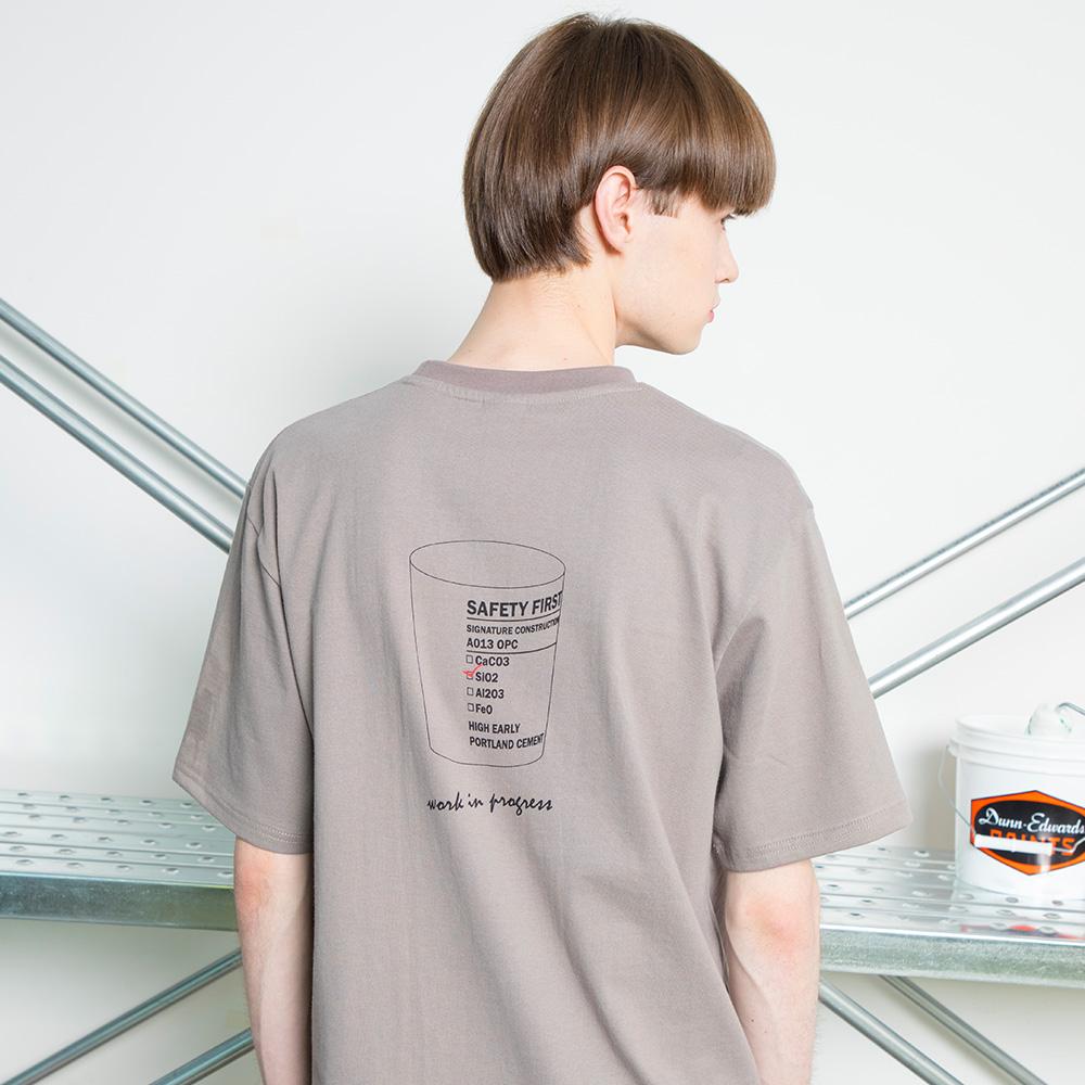 유니섹스 비커 티셔츠 [브라운]