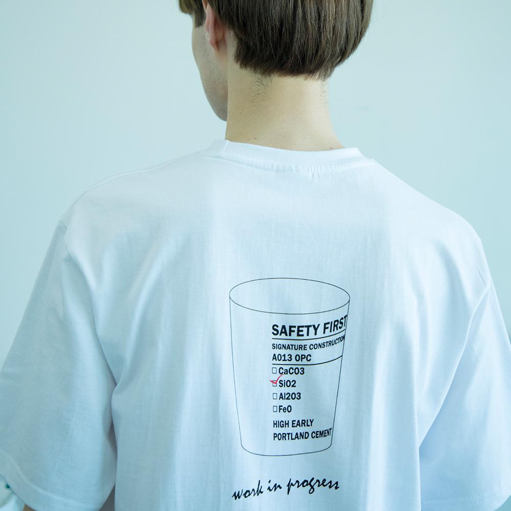 유니섹스 비커 티셔츠 [화이트]