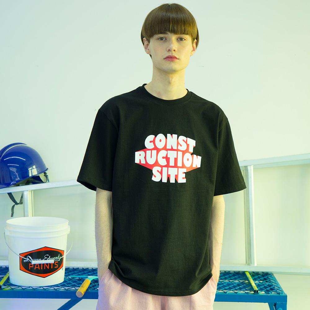 유니섹스 팝업 티셔츠 [검정]