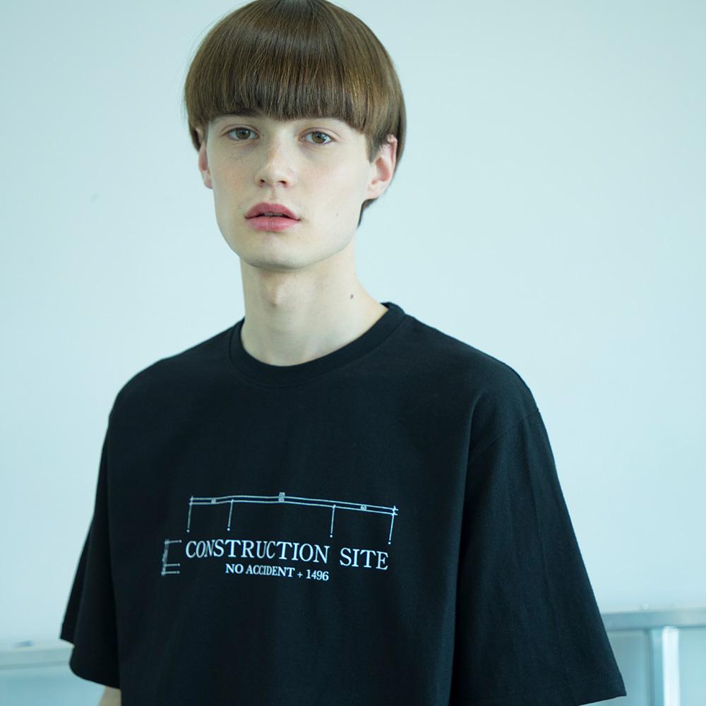 유니섹스 드로잉 티셔츠 [검정]