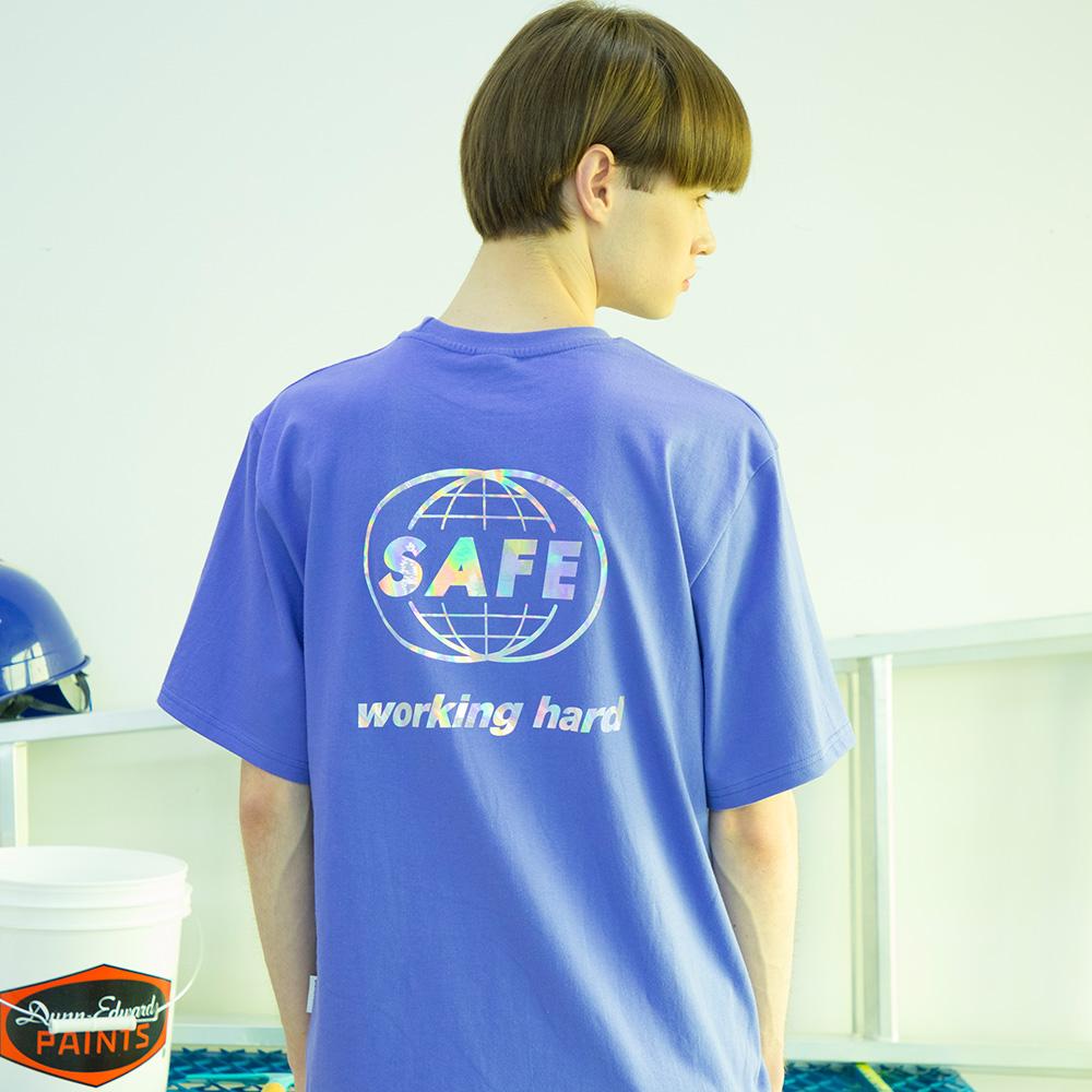 유니섹스 홀로그램 글로벌 티셔츠 [연보라]