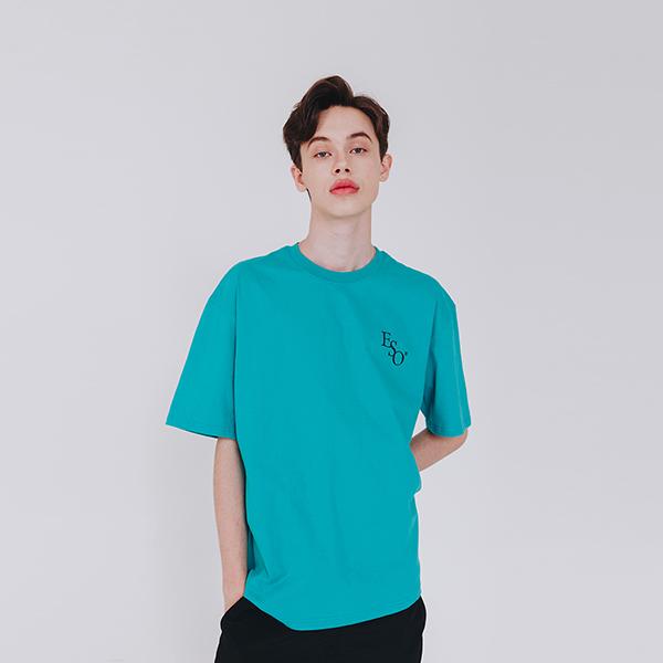 스몰 이에스오 로고 티셔츠 에메랄드