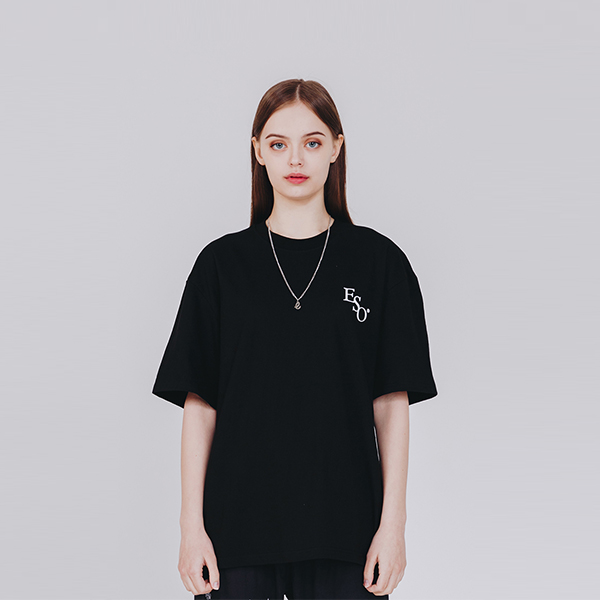 스몰 이에스오 로고 티셔츠 블랙