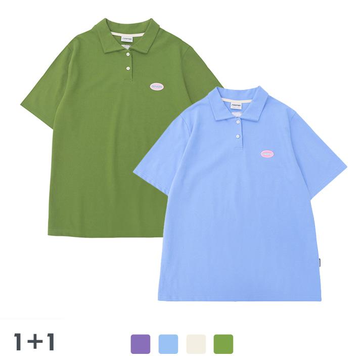 [1+1]  RONRON wappen PK half T-shirts