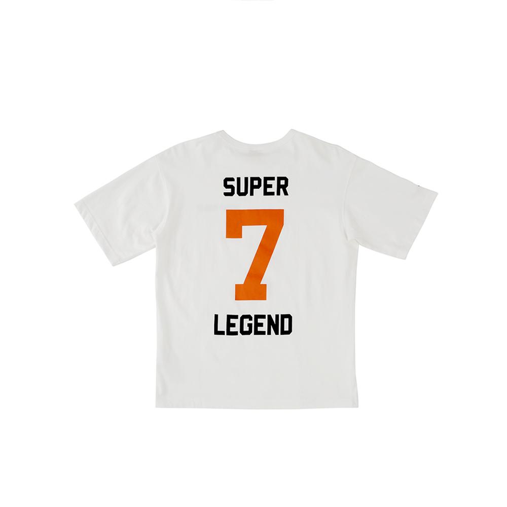 W_스웩버 3518 슈퍼소니 오버핏 티셔츠 화이트