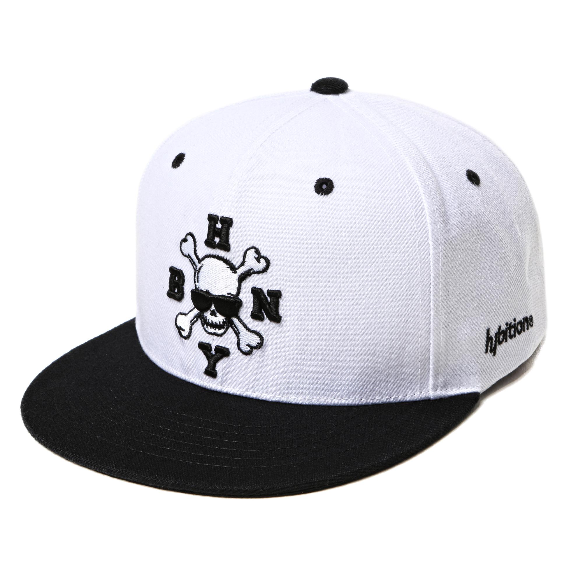 Skull SnapBack Hat White