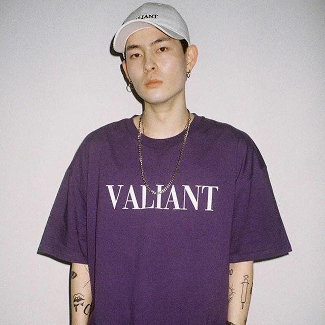 발리안트 컬러브릭 티셔츠 [purple]