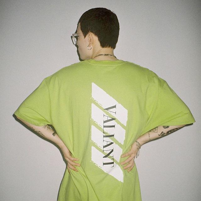발리안트 컬러브릭 티셔츠 [light green]