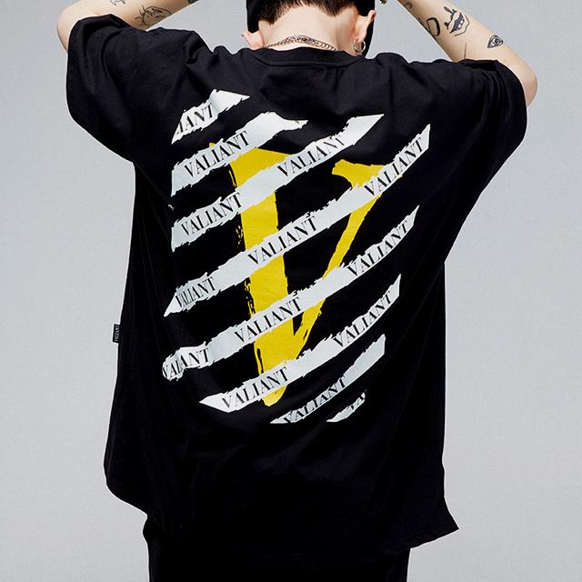 발리안트 스크래치 티셔츠 [black]