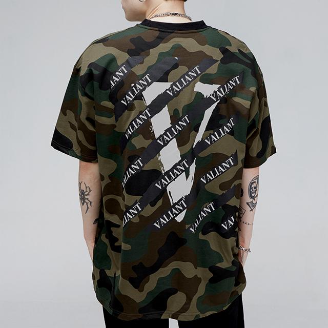 발리안트 스크래치 티셔츠 [camo]