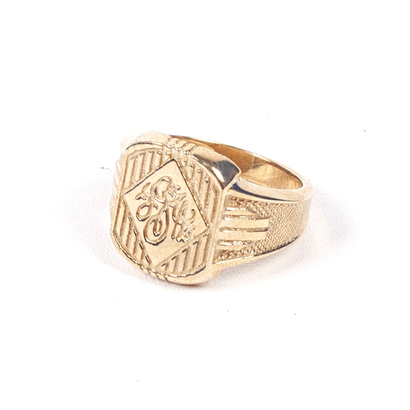 424# CLASSIC INITIAL RING - BRASS