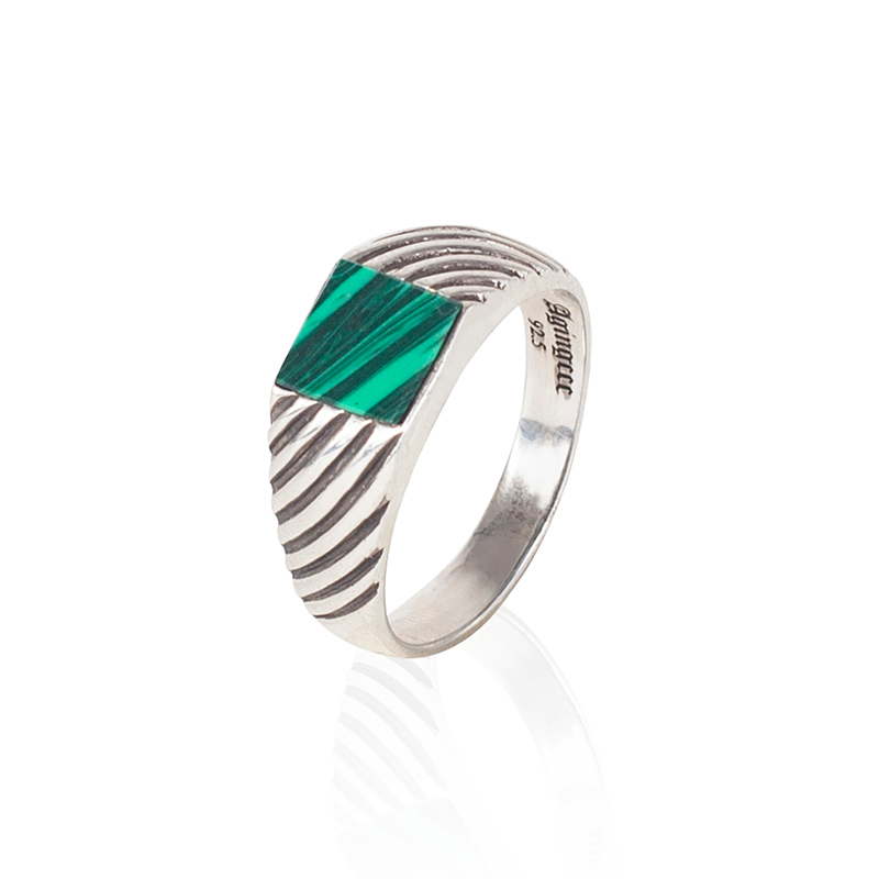 403# CLASSIC MALACHITE RING