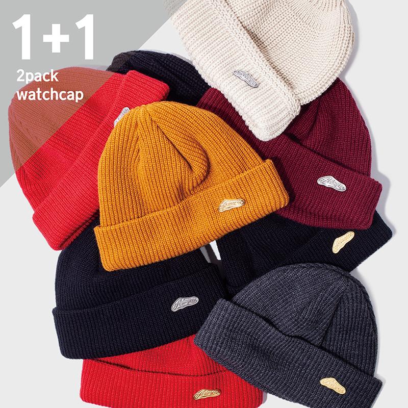 449# 2PACK BADGE WATCH CAP