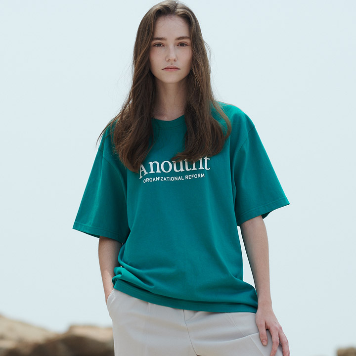 UNISEX SIGNATURE LOGO T-SHIRTS GREEN