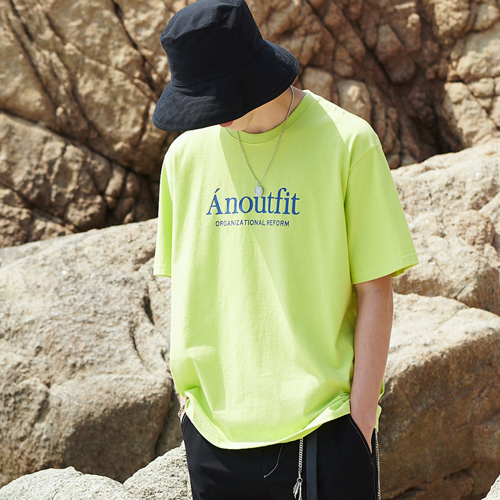 UNISEX SIGNATURE LOGO T-SHIRTS YELLOW GREEN