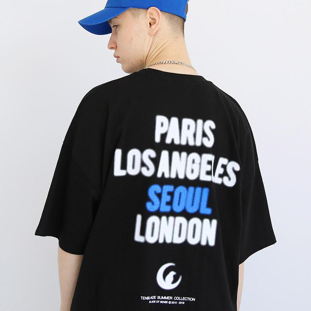 스모그 시티 반팔티셔츠-블랙/블루