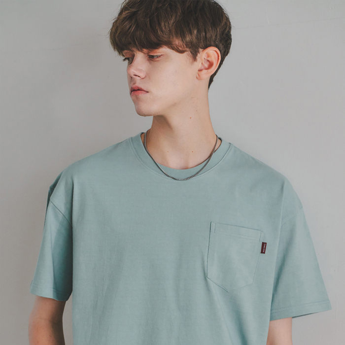 Washed Pocket S/S T-Shirts(Mint)