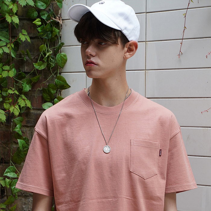 Washed Pocket S/S T-Shirts(Pink)