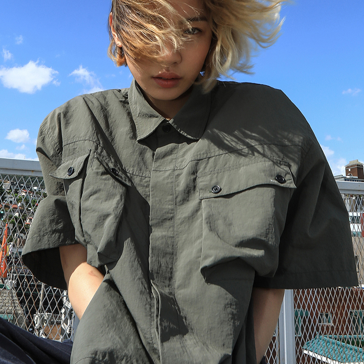 SOLID POCKET SHIRTS_KHAKI