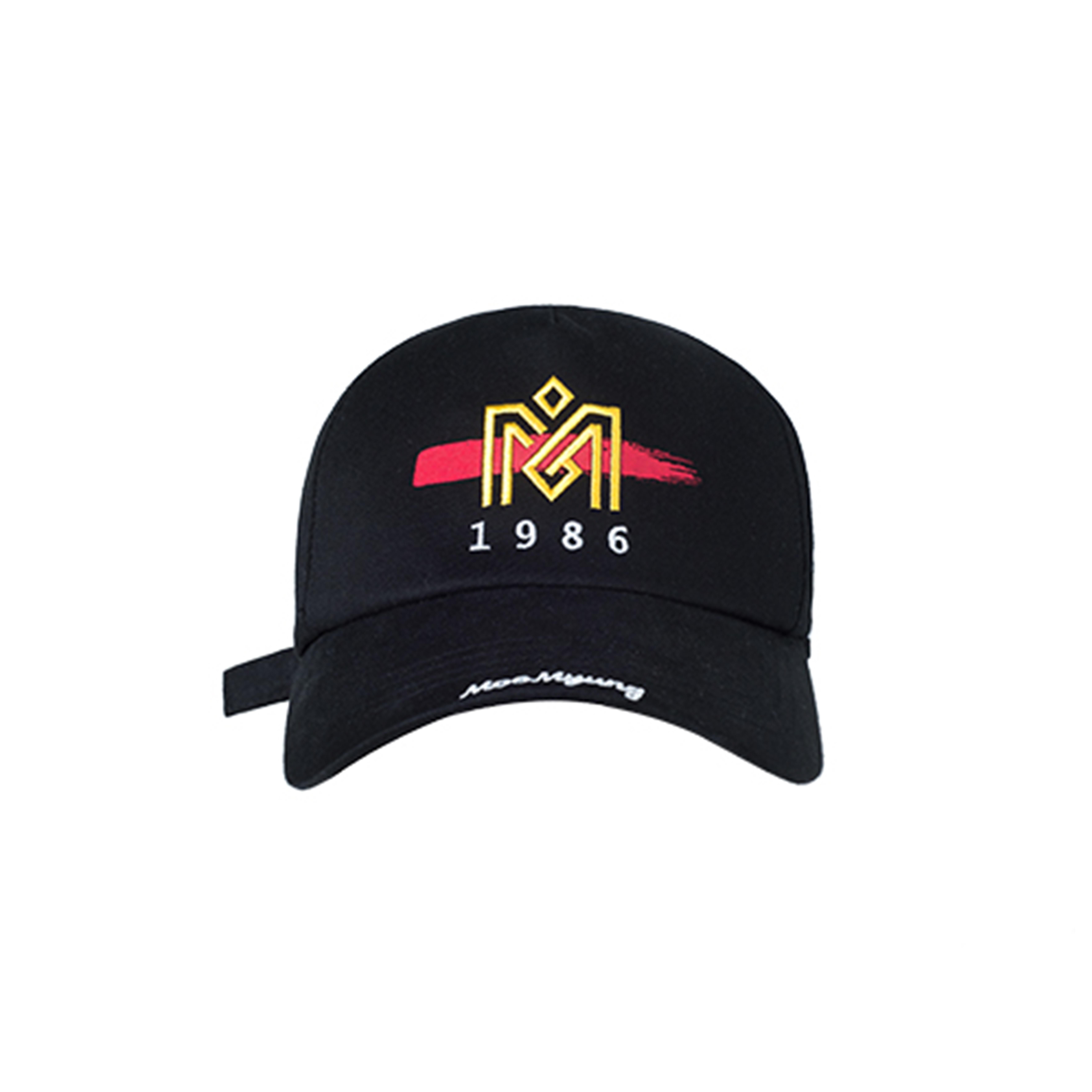 M.O.M.G BRUSH LOGO BALL CAP / BLACK