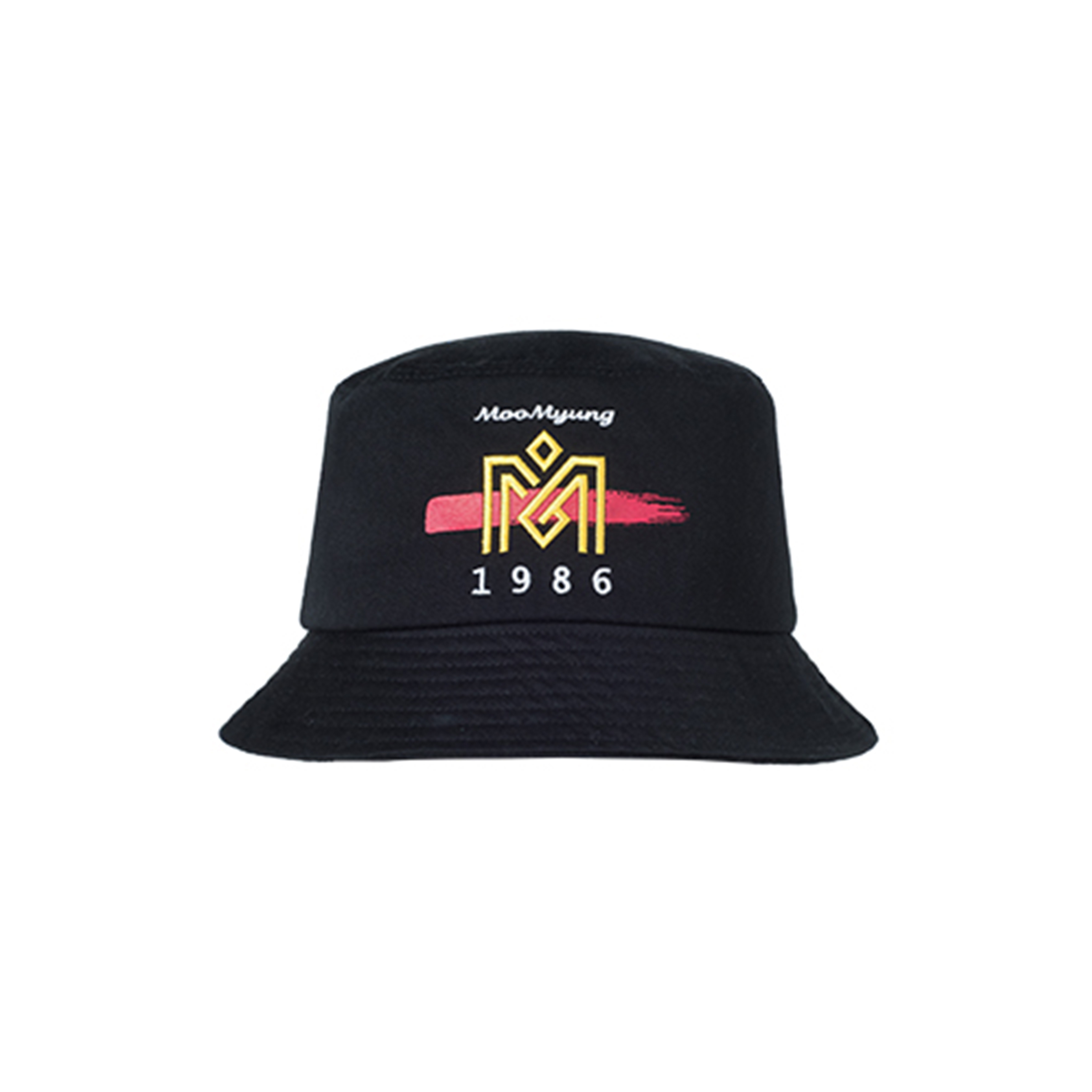 M.O.M.G BRUSH LOGO BUCKET HAT / BLACK