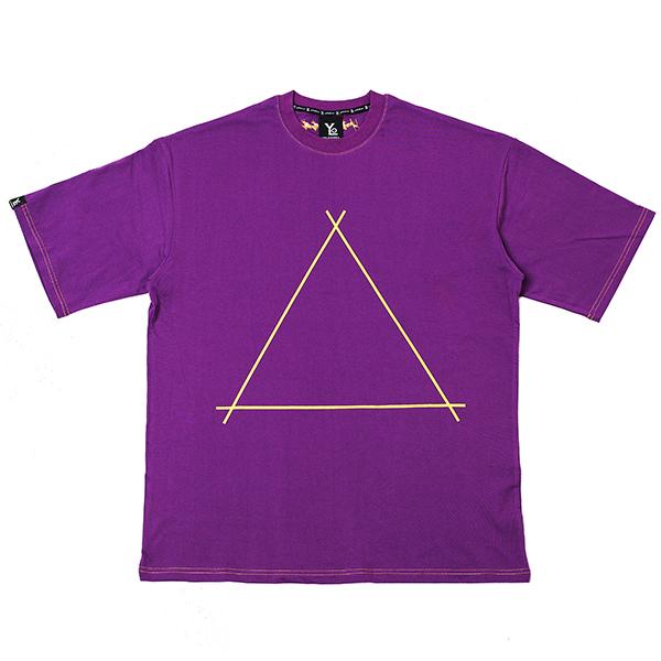 [오버핏] 트라이앵글 반팔 티셔츠 Purple