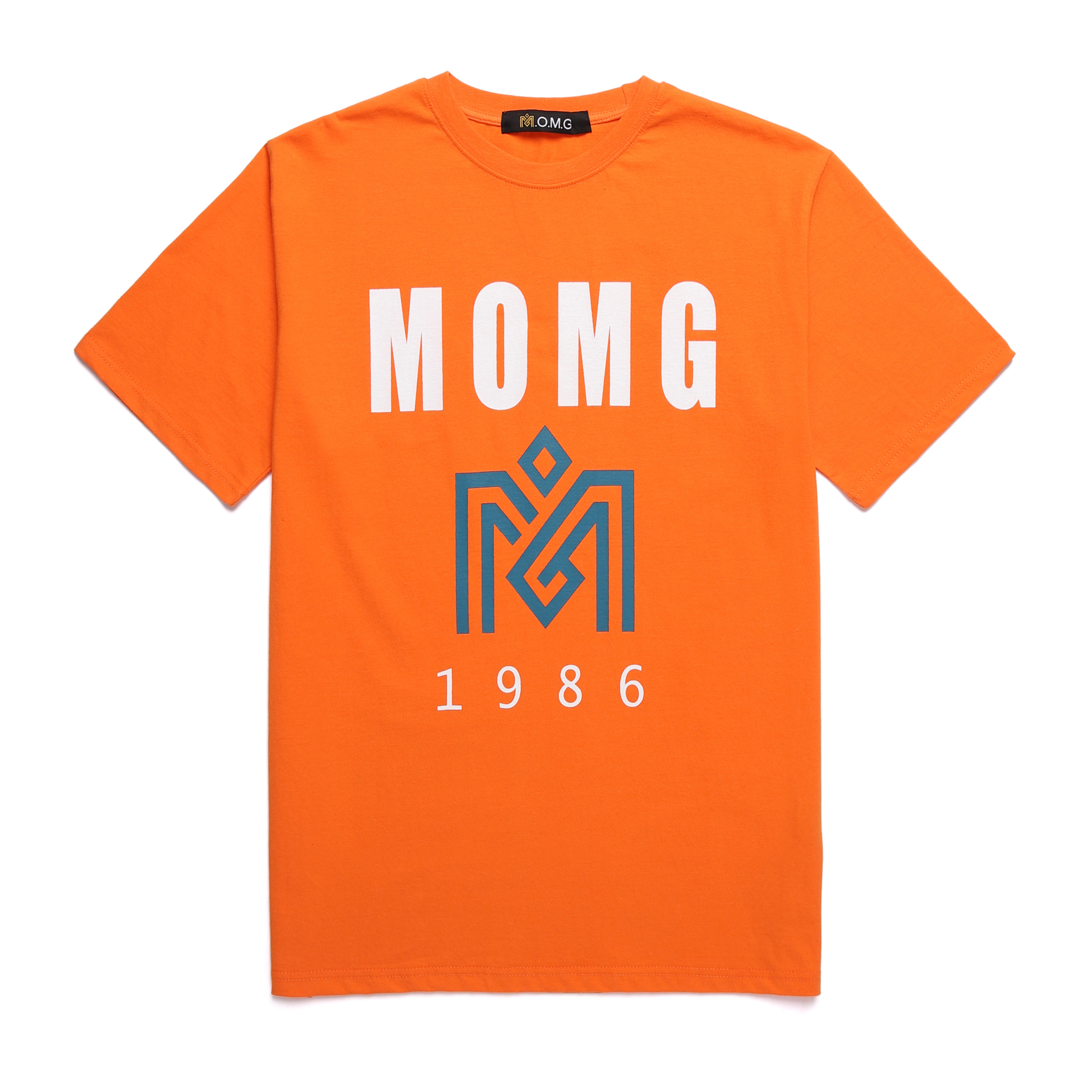 M.O.M.G BASIC BIG LOGO T / ORANGE