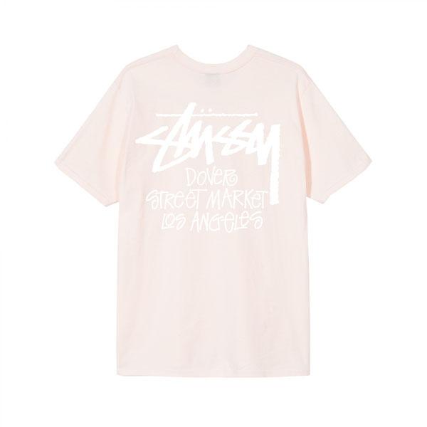 19SS 스투시 도버스트릿마켓 티셔츠 로스엔젤레스 핑크