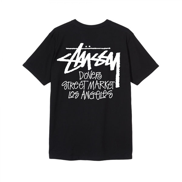 19SS 스투시 도버스트릿마켓 티셔츠 로스엔젤레스 블랙