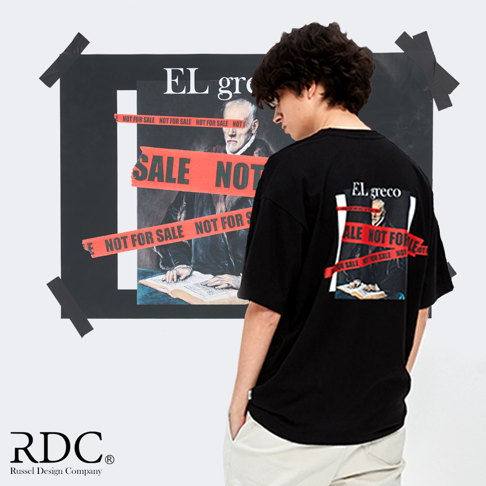 EL GRECO NFS TAPE BLACK T-SHIRTS