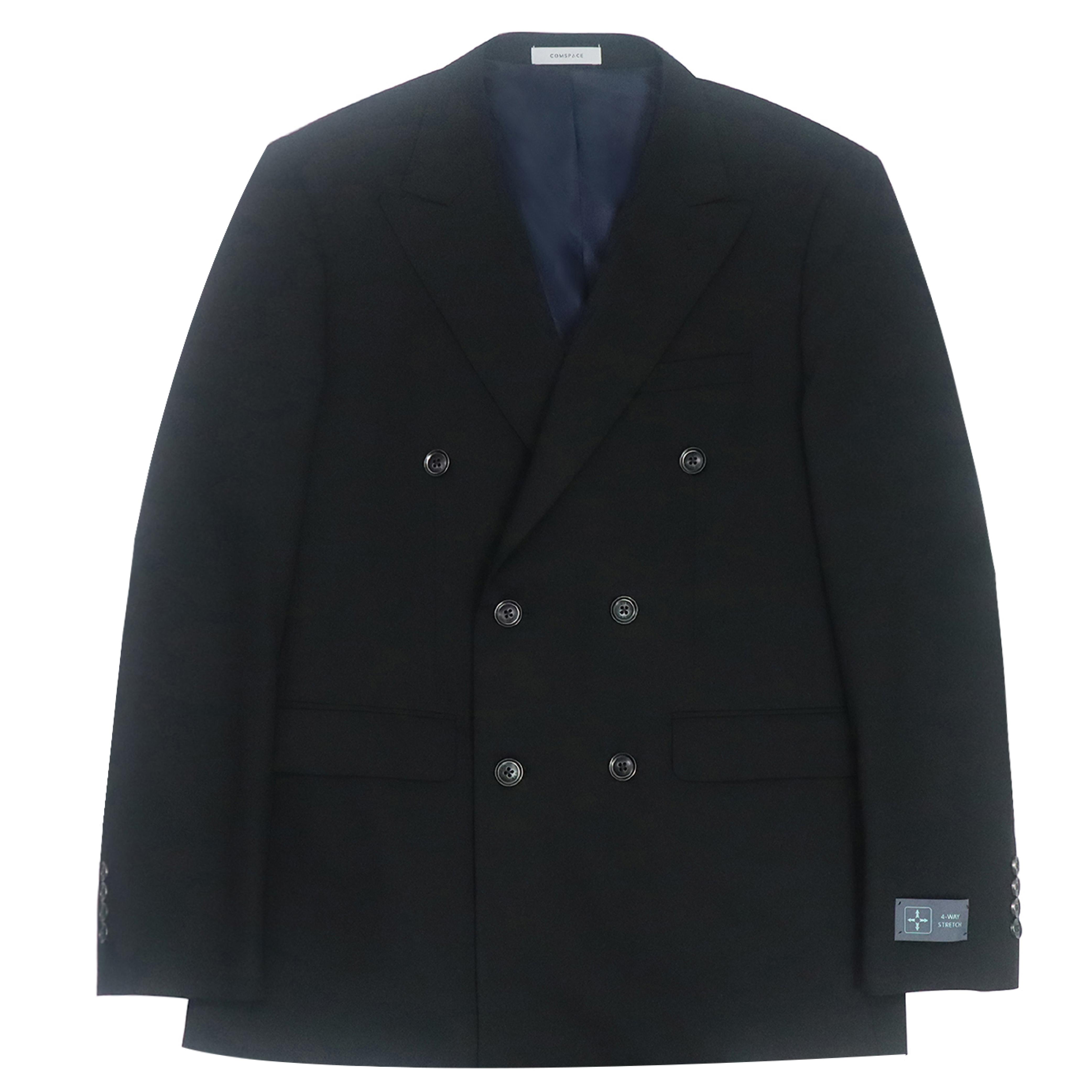 블랙 더블 버튼 재킷