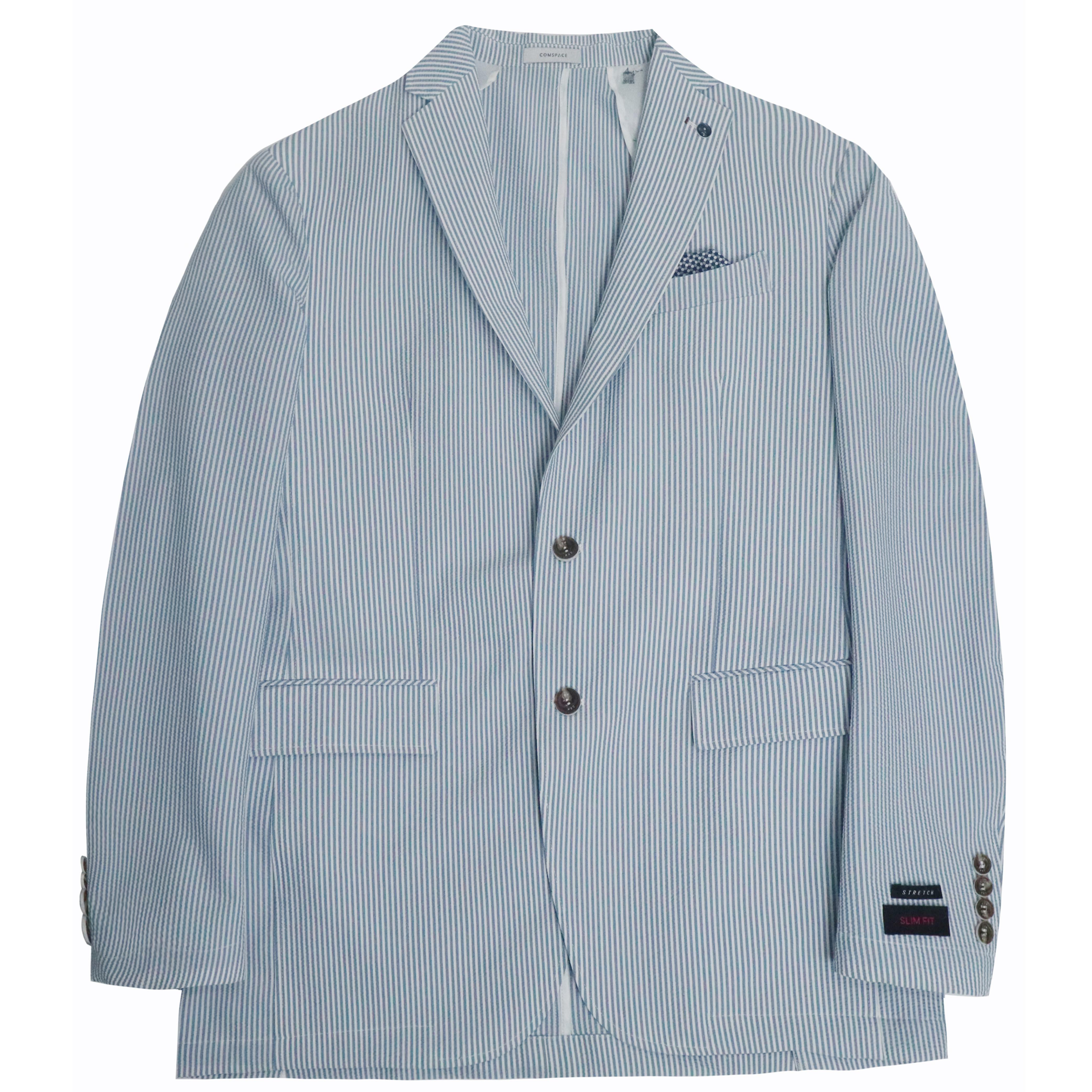 블루 시어서커  스트레치 재킷
