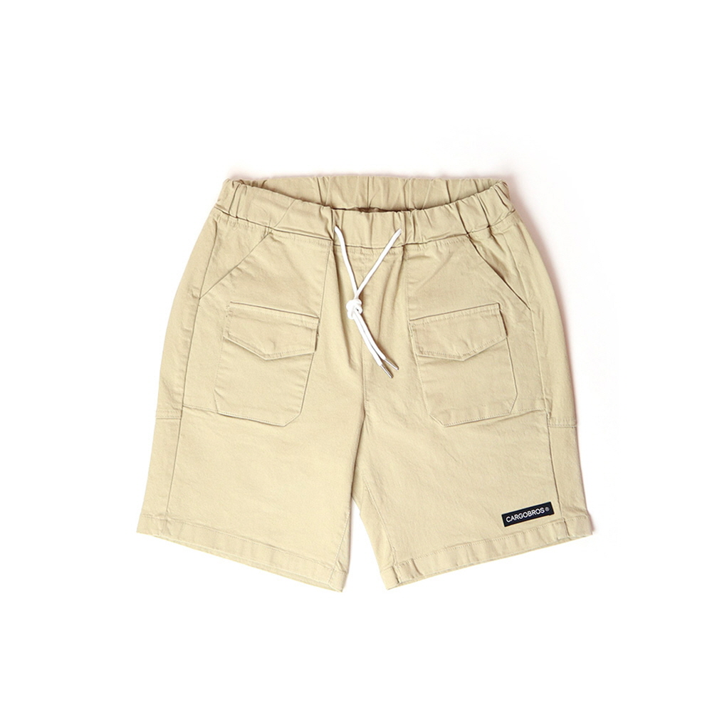 DAILY TWO POCKET BANDING HALF PANTS (BEIGE)