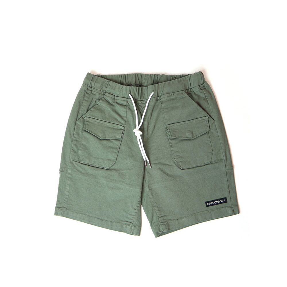 DAILY TWO POCKET BANDING HALF PANTS (KHAKI)