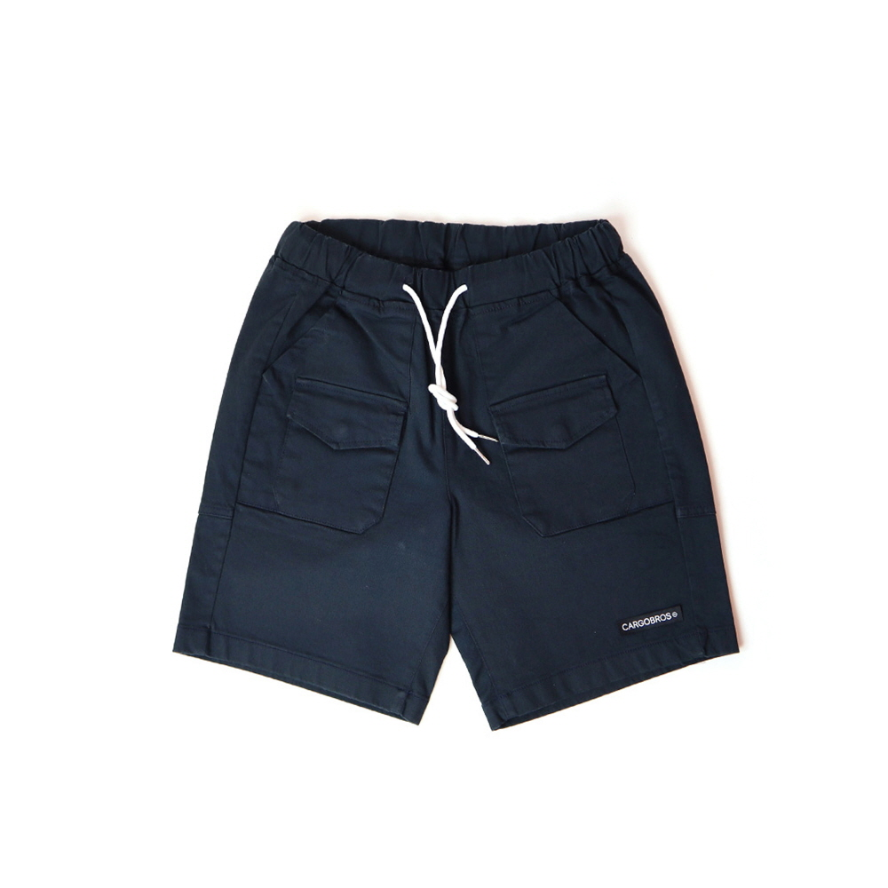 DAILY TWO POCKET BANDING HALF PANTS (NAVY)
