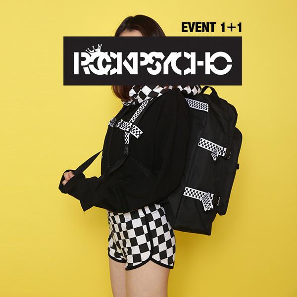 [단독벨트증정][1+1] [단독할인]ROCKPSYCHO checker point backpack  / 락사이코 체커보드 백팩 -