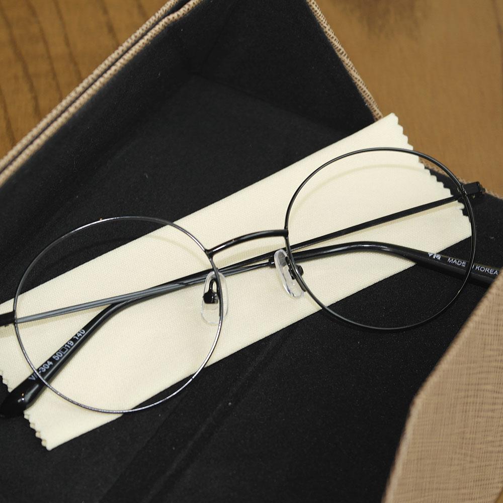 비아이에이 GLASSES FRAME VIA-304_01 (BLACK) 안경테 동글이안경 메탈안경
