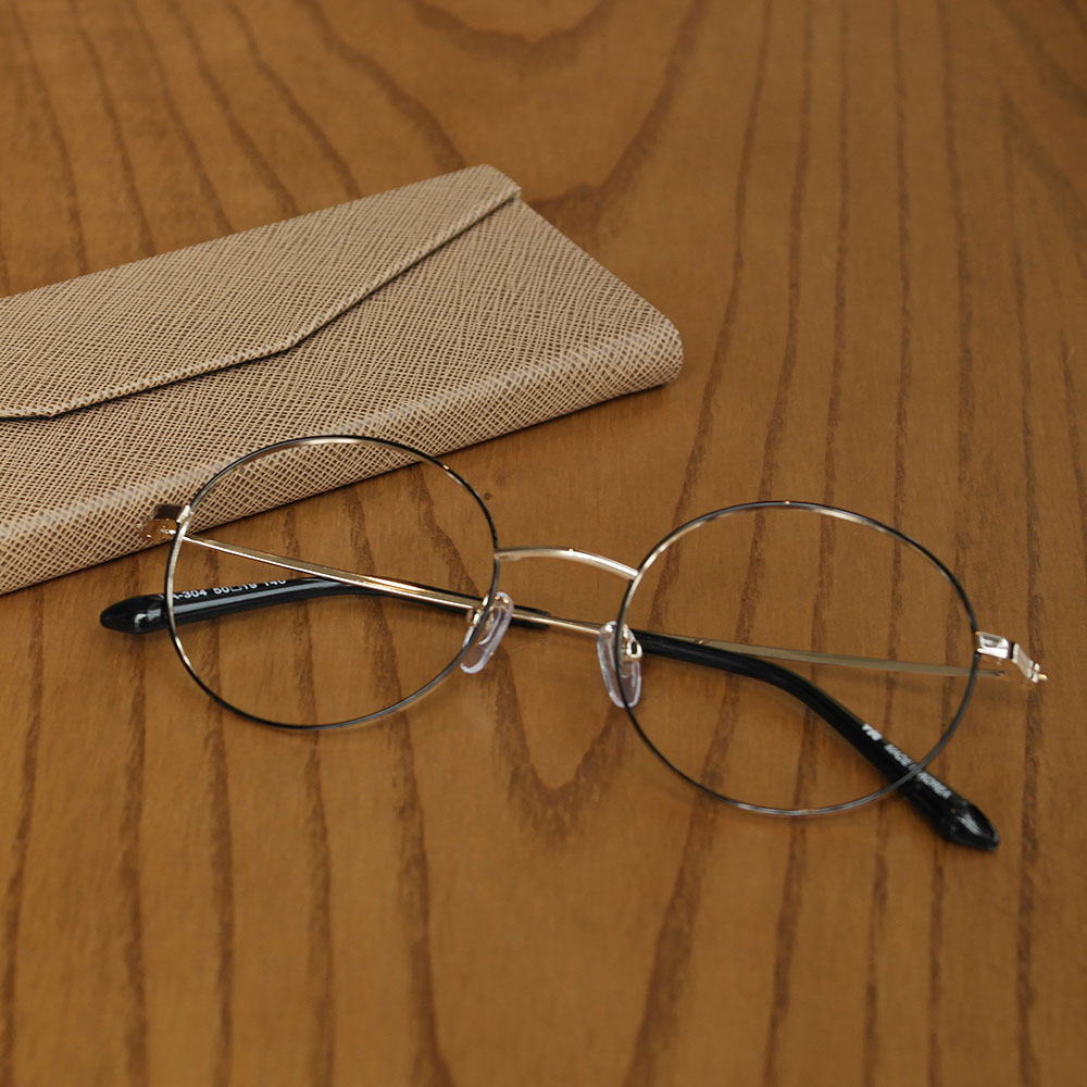 비아이에이 GLASSES FRAME VIA-304_03 (GOLD) 안경테 동글이안경 메탈안경